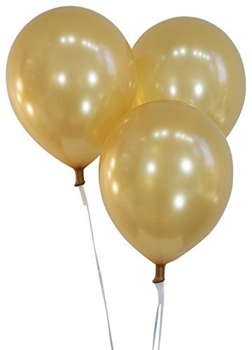 Creative Balloons 12' Latex Balloons - Pack of 72 Pieces - Metallic Blue