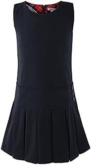Bienzoe Girl's Stretchy Pleated Durable School Uniforms Dress Ju