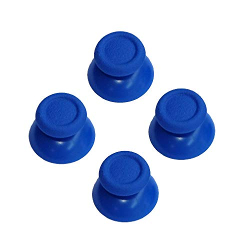 (2 Pairs Thumbsticks Analog Thumb Sticks for Sony Playstation Dual Shock 4 PS4 Controller,fits Xbox One Controller (Deep Blue))