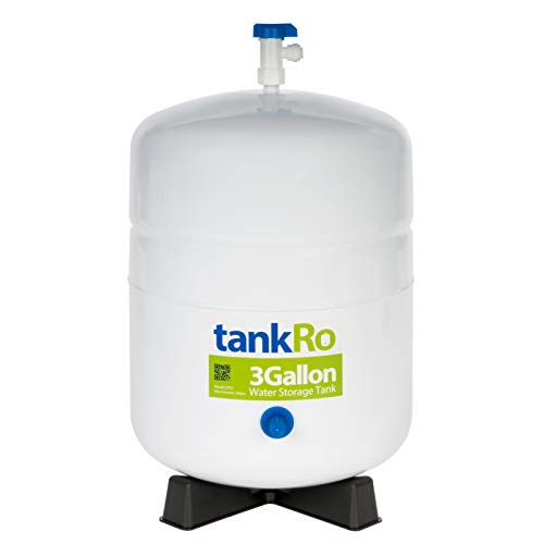 tankRo 3 Gallon RO Expansion Tank - Compact Reverse Osmosis Water Storage Pressure Tank with Free Tank Ball Valve