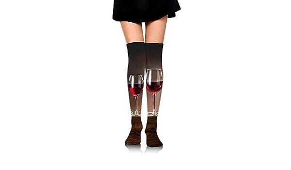High Elasticity Girl Cotton Knee High Socks Uniform Chemistry Colorful Bottles Women Tube Socks