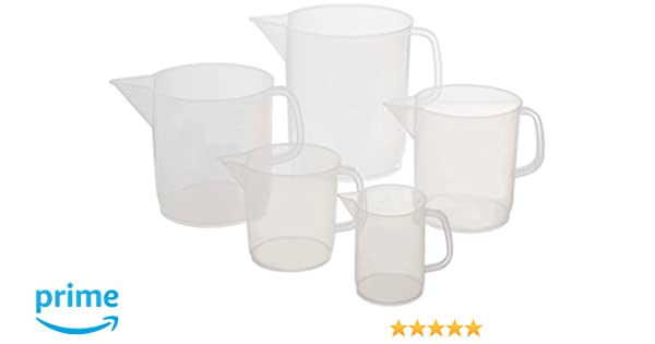 1000ml Capacity United Scientific 81122 Polypropylene Short Form Pitchers Pack of 6