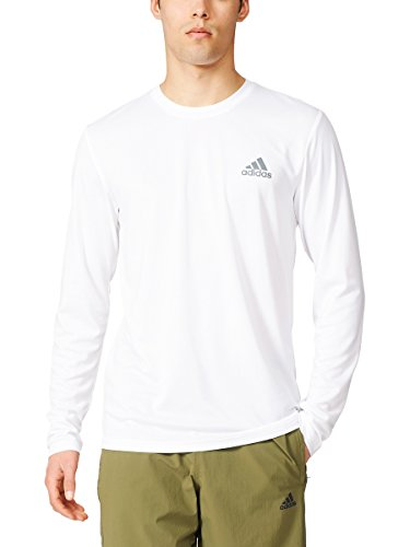 Adidas Men's Essential Tech Long Sleeve Tee, White, Large-Tall