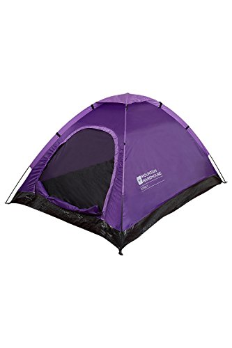Mountain Warehouse Festival Fun 2 Man Tent - Festival & Camping Tent Purple