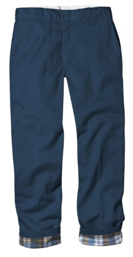 Dickies Men's Relaxed Fit Flannel-Lined Work Pant, Navy, 38X30 Cotton Lined Work Pants