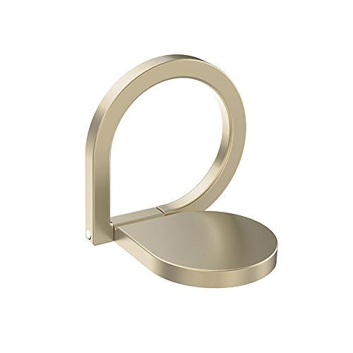 Phone Ring Holder Stand, HuntGold Universal Rotated Water-drop Finger Ring Clip Stand Bracket Buckle Phone Grip Kickstand for All Smartphones iPhone Samsung Huawei Also for Tablets Gold by HuntGold (Image #7)