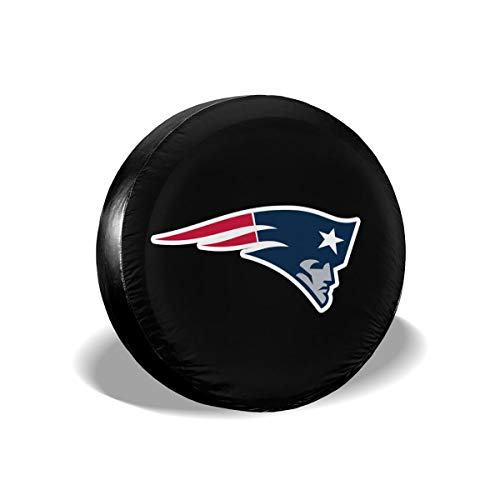 MamaTina Design Waterproof Tire Cover New England Patriots American Football Team Unisex Spare Tire Cover for Jeep Trailer RV SUV and Many Vehicle