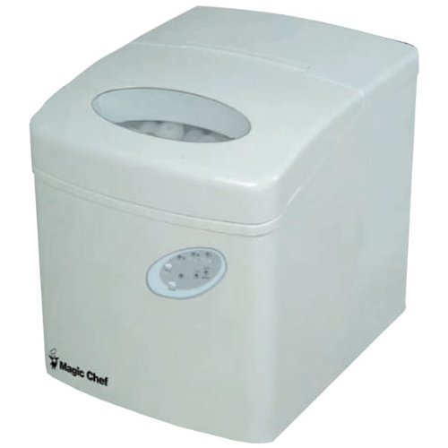 MAGIC CHEF MCIM22TW 27lb Portable Mini Ice Maker (White)