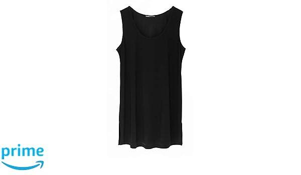 b90c59fbed9add Lounge The Label Womens Tunic - Jade Jersey Black - Sleeveless Top ...