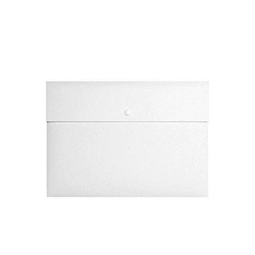 5 Pcs Plastic Envelopes,Clear Poly Envelope Waterproof File Folder with Snap Button,Flat File Letter Manager,A4 Size.School and Office Organizer (White) - Legal Folders Flat Printed