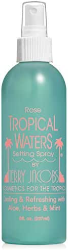 Tropical Waters Rose Water Make Up Setting Spray, Cooling Spray and Facial Mist, 8oz Long Lasting, Hydrating, Face Mist, Cosmetic Finishing Spray (Rose)