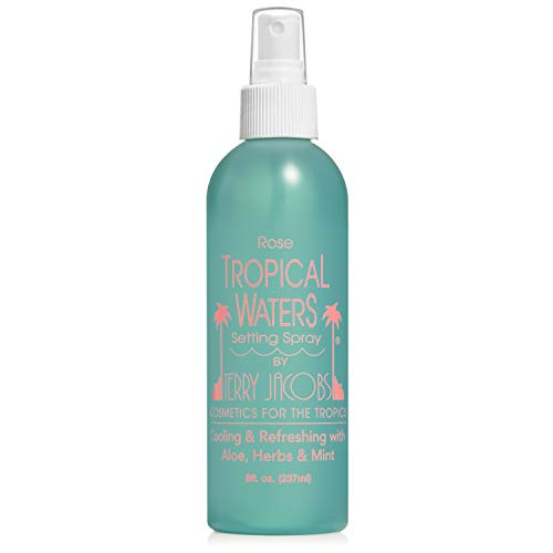 (Tropical Waters Rosewater Setting Spray Facial Mist - Blend of Natural Aloe Vera, Vitamins, and Soothing Herbs - Hydrating Facial Spray - Non-irritating & Alcohol Free - Large 8oz bottle)