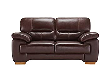 Super Oak Furniture Land Clayton 2 Seater Sofa In Brown Leather Download Free Architecture Designs Scobabritishbridgeorg