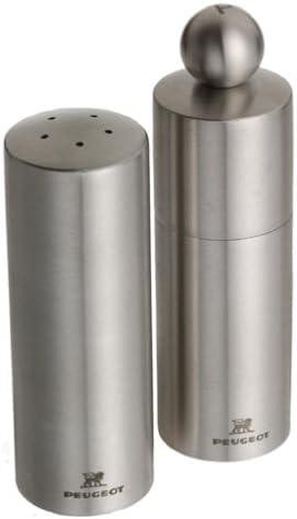 Peugeot Reims Stainless Steel Pepper Mill and Salt Shaker Set