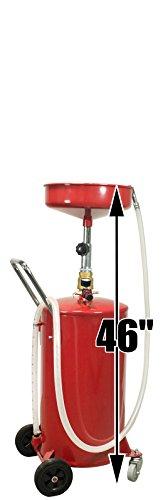 Dragway Tools 18 Gallon Oil Waste Drain Tank Pan for Lift Jack Hoist Shop Crane by Dragway Tools (Image #1)