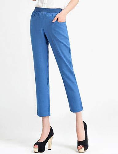 Pantaloni Chino da donna Tinta Blue unita Light YFLTZ Active TCBwdwq