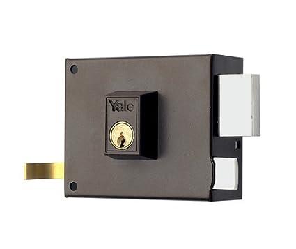 Yale Cerradura de Sobreponer Estándar125R100 Derecha, Hierro Pintado