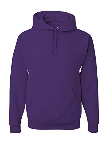 - Jerzees 8 oz. NuBlend 50/50 Pullover Hood, Deep Purple - Small