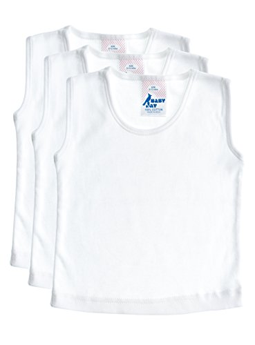 Sleeveless Cotton Undershirt T-Shirt Tank Top, WTT 3-6 3-Pack