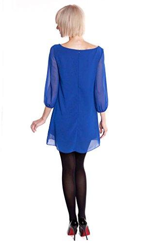 d2375428fa0de Olian Eliana Chiffon Maternity Tunic Dress - Blue - Small at Amazon Women's  Clothing store: