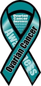 - Ovarian Cancer Awareness 2 in 1 Ribbon Magnet