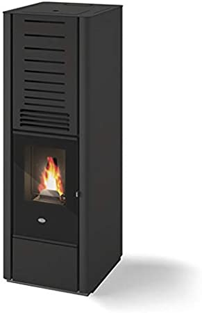 Eva Calor Karen - Estufa de pellets 9 kW, color negro, Groffato - 901678200