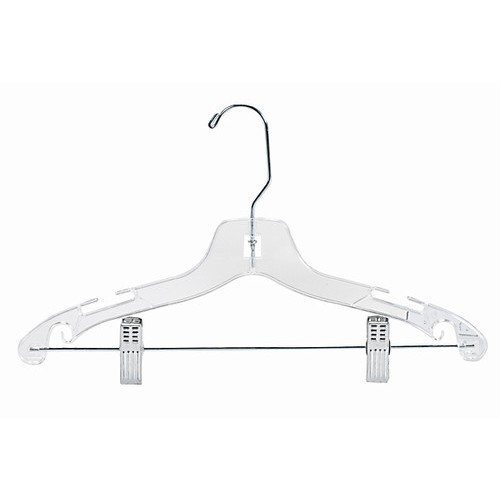 Only Hangers Only Children's Plastic Suit w/Clips-14 (50), Clear