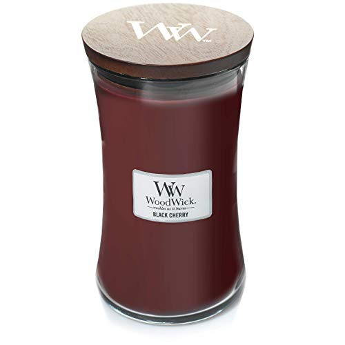 WoodWick Large Hourglass Scented Candle, Black Cherry ()