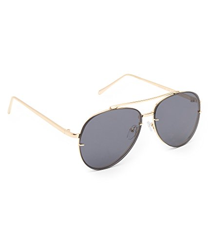 Aeropostale Women's Flat Lens Aviator Sunglasses Black - Sunglasses Aeropostale