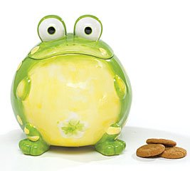 Toby The Toad Frog Cookie Jar Canister For Kitchen Decor And Food Storage by burton+BURTON