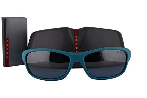 Prada PS04NS Sunglasses Turquoise w/Grey Mirror Lens DHB2B2 SPS04N PS 04NS SPS - Sunglasses Prada Wrap