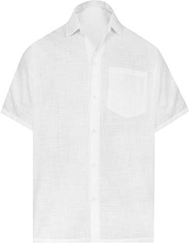 LA LEELA Hawaiian Shirts for Men Beach wear Aloha XL|Chest 48