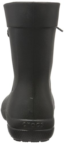 crocs Damen Freesail Shorty Rain Boots Gummistiefel Schwarz (Black)