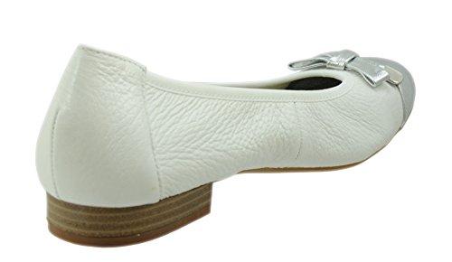 Caprice, Ballerine donna Bianco bianco/argento 37