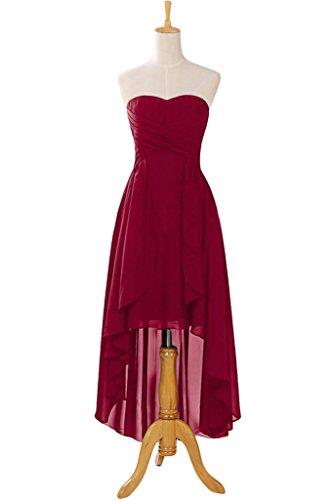 Missdressy - Vestido - plisado - para mujer borgoña