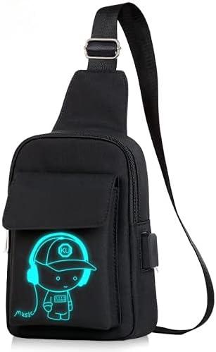 Chest bag male Korean hip-hop student shoulder bag casual all-match diagonal small backpack men messenger bag