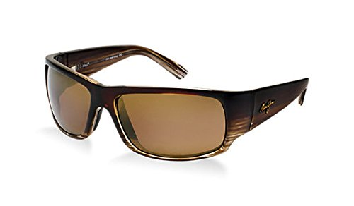 Maui Jim Sunglasses - World Cup / Frame: Chocolate Stripe Fade Lens: HCL - Sunglass Maui Jim Hut