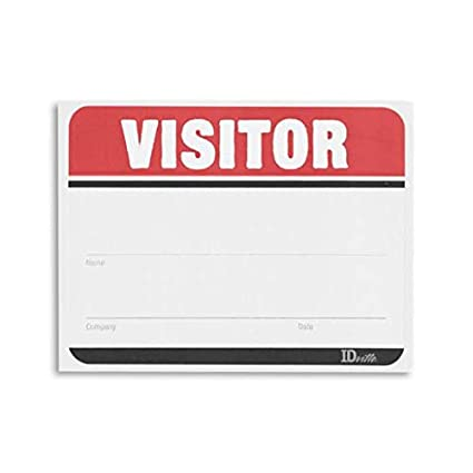 Amazon com : Visitor Name Badge Stickers - Adhesive Name