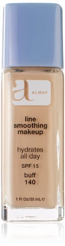 Almay Line Smoothing Makeup with SPF 15, Buff 140, 1 Ounce Bottle (Almay Line Smoothing Makeup)