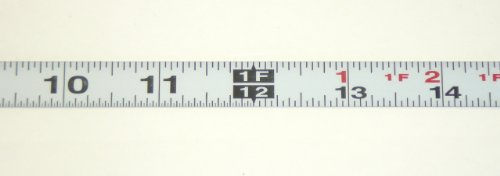 Metal Adhesive Backed Ruler – 1/2 Inch Wide X 4 Feet Long – Left to Right - Fractional - 1/16