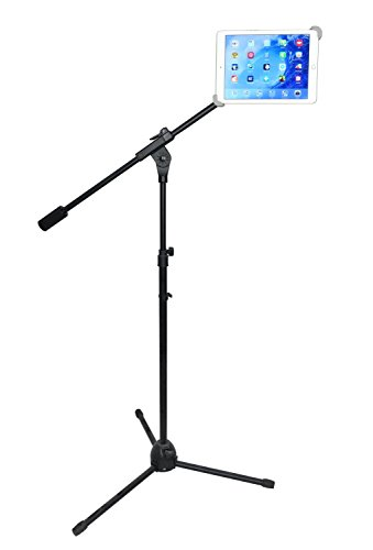 LapWorks Sky Crane Pedestal, Most Stable Floor Stand for iPads & Tablets (Black) by LapWorks