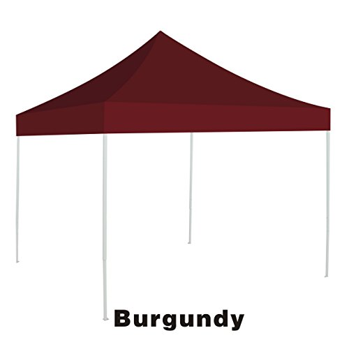 Ez pop Up instant Canopy 10'X10' Replacement Top gazebo EZ canopy Cover patio pavilion sunshade plyester-BURGUNDY by BenefitUSA