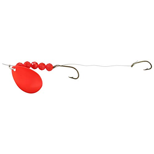 (Northland Tackle Mr. Walleye Crawler Hauler Indiana Rig, Red, 5 Hook)
