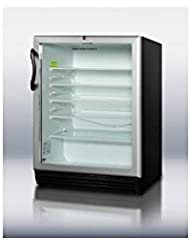Summit SCR600BLBIADA Beverage Refrigeration, Glass/Black