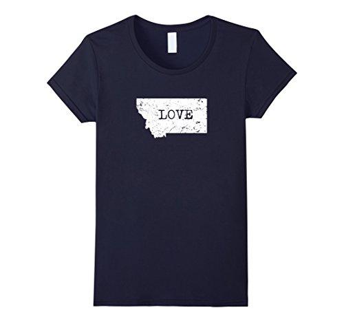 Womens Home Tees  I Love My Home State Montana T Shirt Xl Navy