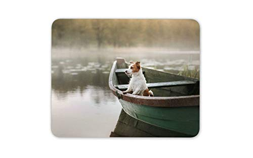 Cute Jack Russell Mouse Pad Mousepad Mouse Mat - Boating Dog Puppy Terrier Computer Gift -14808