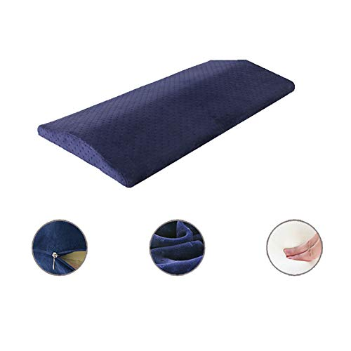 Price comparison product image Bed Sleep Wedge Pillow, with Zipper Cover, Memory Foam Leg Cushion Lumbar Support Wedge Pillow for Sleeping Side or Back, Orthopedic Waist Pillow, Blue