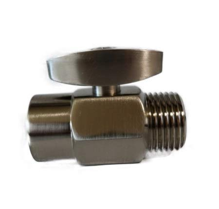 Brass 100% Shut Off Valve for Shower Head - Brushed Nickel