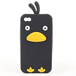 Unique Stay Bird Pattern Silicone Case for iPhone 4 and 4S (Assorted Colors) , White
