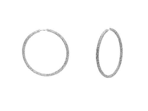 Fronay Co .925 Sterling Silver Sparkling Glitter Hoop Earrings, - Ct Macys